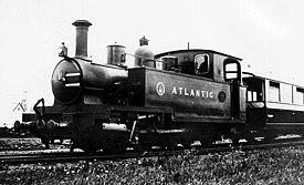 'Atlantic', the last locomotive built for the Campbeltown and Machrihanish Light Railway, Andrew Barclay 0-6-2T, builder's photograph, 1907.jpg