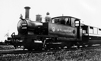 Campbeltown and Machrihanish Light Railway - 'Atlantic', the last locomotive built for the Campbeltown and Machrihanish Light Railway, Andrew Barclay 0-6-2T, builder's photograph, 1907