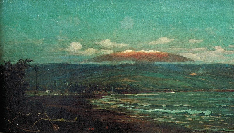 File:'Mauna Kea from Hilo Bay' by D. Howard Hitchcock, 1887.jpg