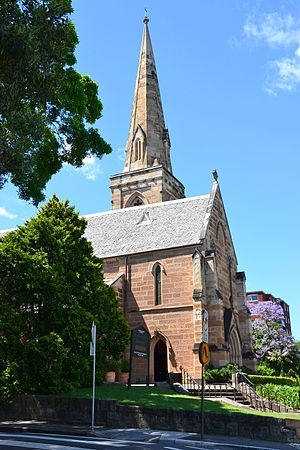Edmund Blacket - St Mark's Church, Darling Point, (1848-70) is in the Early English Gothic style.
