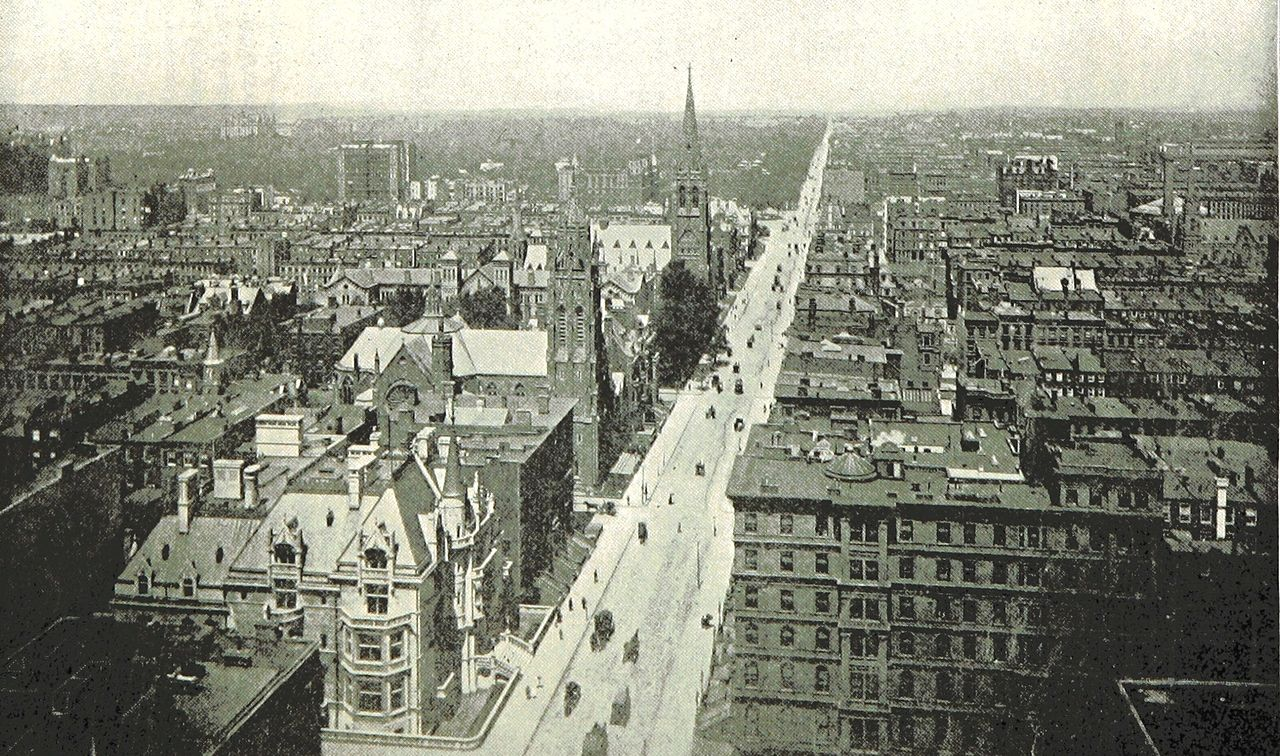 File King1893nyc Pg319 Bird S Eye View Of Fifth Avenue