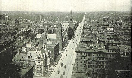 (King1893NYC) pg319 BIRD'S-EYE VIEW OF FIFTH AVENUE; NORTH OF 51ST STREET
