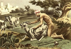 Sodomy - Ancient Greek sodomising a goat by Édouard-Henri Avril