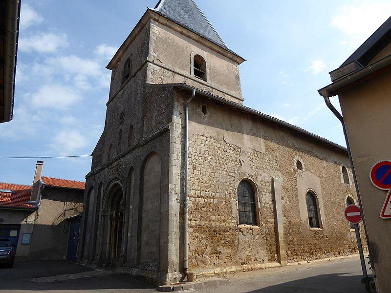 Église Saint-Laurent de Laître-sous-Amance en Meurthe-et-Moselle.