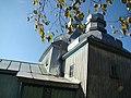 Деревянная церковь в Кожанке осень.JPG