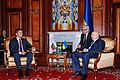 Министър Вигенин разговаря с изпълняващия длъжността президент на Украйна Александър Турчинов (13202380084).jpg