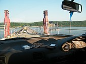 Возвращение на «материк» по понтонному мосту.<br /><meta itemprop=
