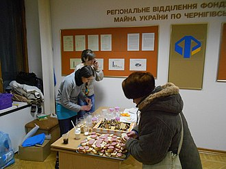 2014 Euromaidan regional state administration occupations - Occupiers at Chernihiv RSA on 27 January