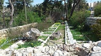 Tabachnik Garden - Image: בית הקברות של המושבה המאמריקאית בירושלים הר הצופים 1