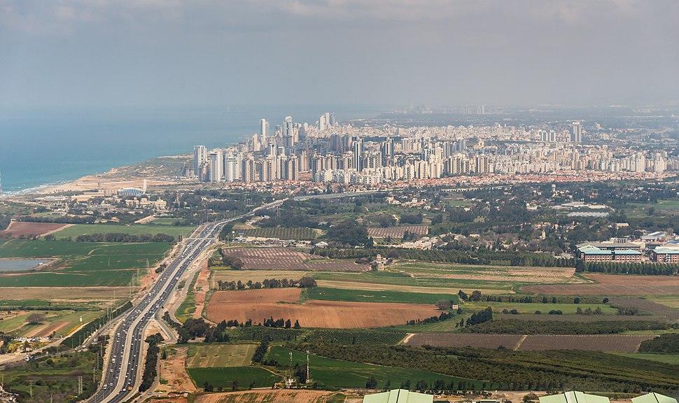 צילום מהאויר של נתניה