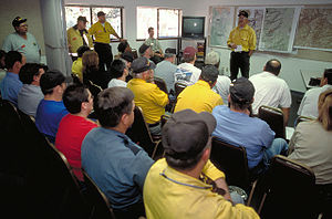 Incident management team - A Type 2 Incident Management Team takes control of a fire emergency.