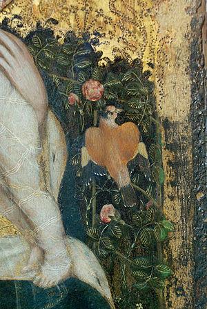 Madonna of the Quail - Image: 08 09 2006 Pisanello 1395c 1455 Madonna della quaglia Photo Paolo Villa deta Castelvecchio Verona Pentax K10D SMC Pentax FA 35mm F2 08 09 2006