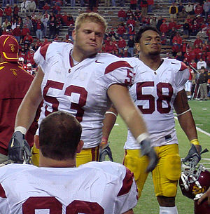 Jeff Byers - Byers and Rey Maualuga during their time at USC.