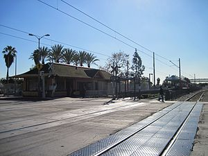 103rd Street/Watts Towers station - The LA Metro station, adjacent to the historic Watts Station