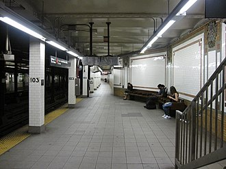 103rd Street (IRT Broadway–Seventh Avenue Line) - Northbound platform
