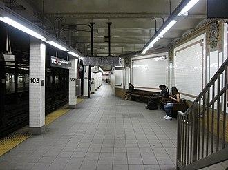 103rd Street (IRT Broadway–Seventh Avenue Line) - Northbound platform