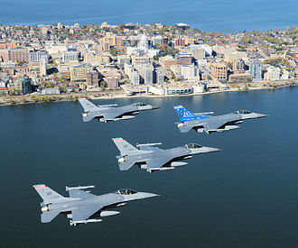 Eastern Air Defense Sector - Wisconsin ANG 115th Fighter Wing, Wisconsin Air National Guard over Wisconsin's capital city of Madison