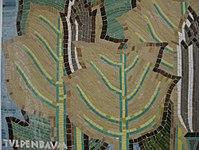 1170 Andergasse 10-12 - Ernest Bevin-Hof Stg 16 - Hauszeichen Tulpenbaumblätter von Herbert T. Schimek 1958 IMG 4784.jpg