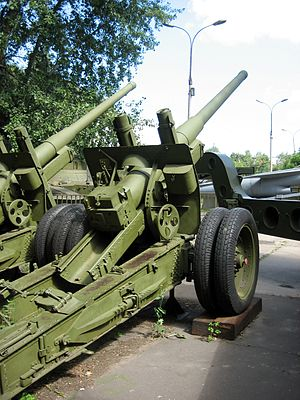 122 mm gun M1931/37 (A-19) - The M1931/37 in the Central Armed Forces Museum, Moscow.