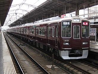 Hankyu 1300 series - Set 1301, July 2014