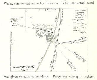 Battle of Shrewsbury - Plan of the battle