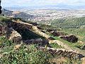 147 Poblat ibèric de Puig Castellar, amb Montcada al fons.JPG