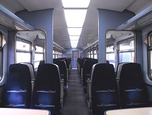 British Rail Class 153 - The interior of a First Great Western refurbished Class 153