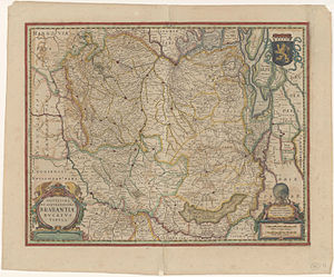 Duchy of Brabant - Novissima et Accuratissima Brabantiae Ducatus Tabula (a very new and most accurate map of the Duchy of Brabant); by Hendrik Hondius, 1629