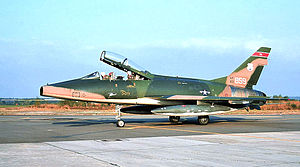 178th Wing - 162d Tactical Fighter Squadron - North American F-100F Super Sabre, AF Ser. No. 56-3859, circa 1975