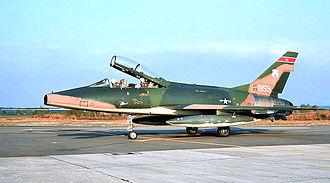 178th Wing - 162d Tactical Fighter Squadron - North American F-100F Super Sabre, AF Ser. No. 56-3859, circa 1975
