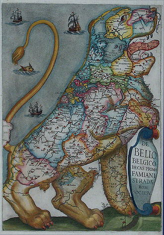 Terminology of the Low Countries - The Low Countries indicated in Latin as Belgico (1631)