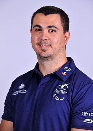 Justin Eveson - 2012 Australian Paralympic Team portrait of Eveson