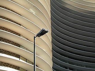 Mid-century modern - Detail of Copan, a Niemeyer building in São Paulo, Oscar Niemeyer