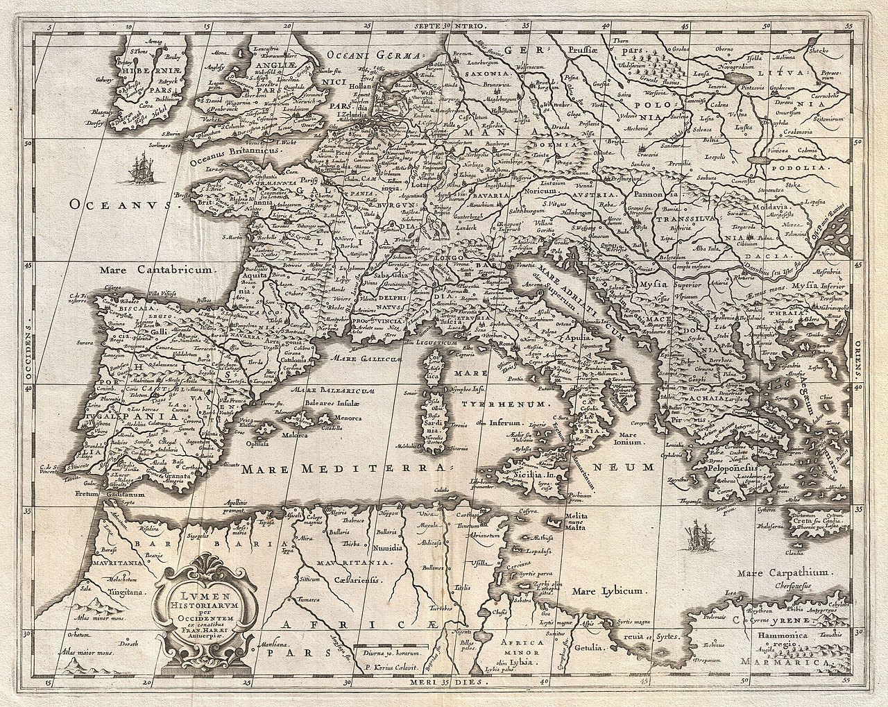 File 1852 Jansson Map Of Europe In Antiquity Geographicus