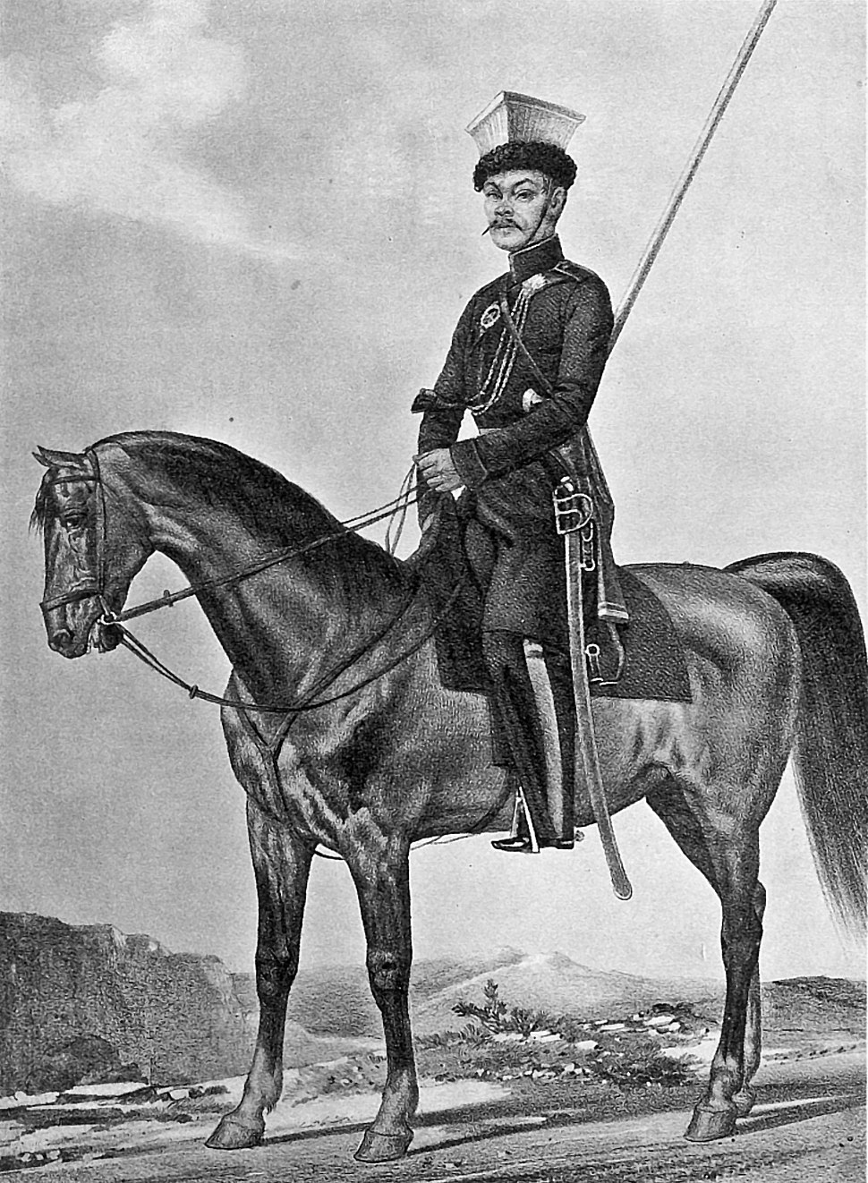 18 2455 Book illustrations of Historical description of the clothes and weapons of Russian troops