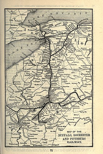 Buffalo, Rochester and Pittsburgh Railway - Image: 1903 Poor's Buffalo, Rochester and Pittsburg Railway