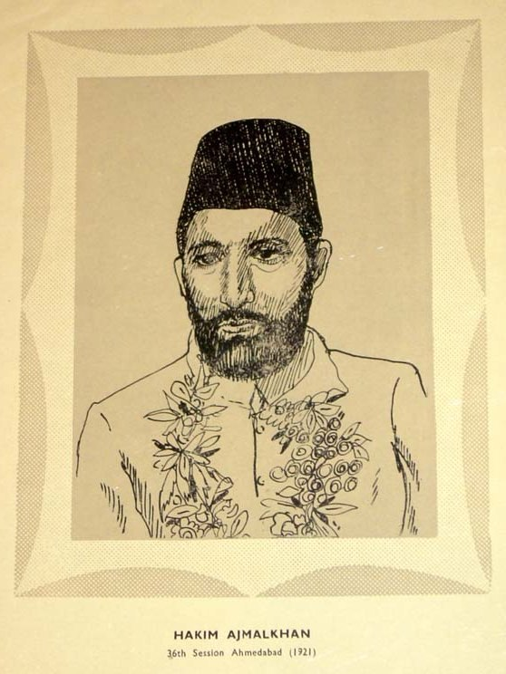 Hakim Ajmal Khan, a founder of the Muslim League, became the president of the Indian National Congress in 1921.