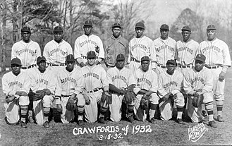 Satchel Paige - Paige (standing, 3rd from left) with the 1932 Pittsburgh Crawfords