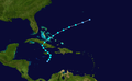 1934 Atlantic tropical storm 12 track.png