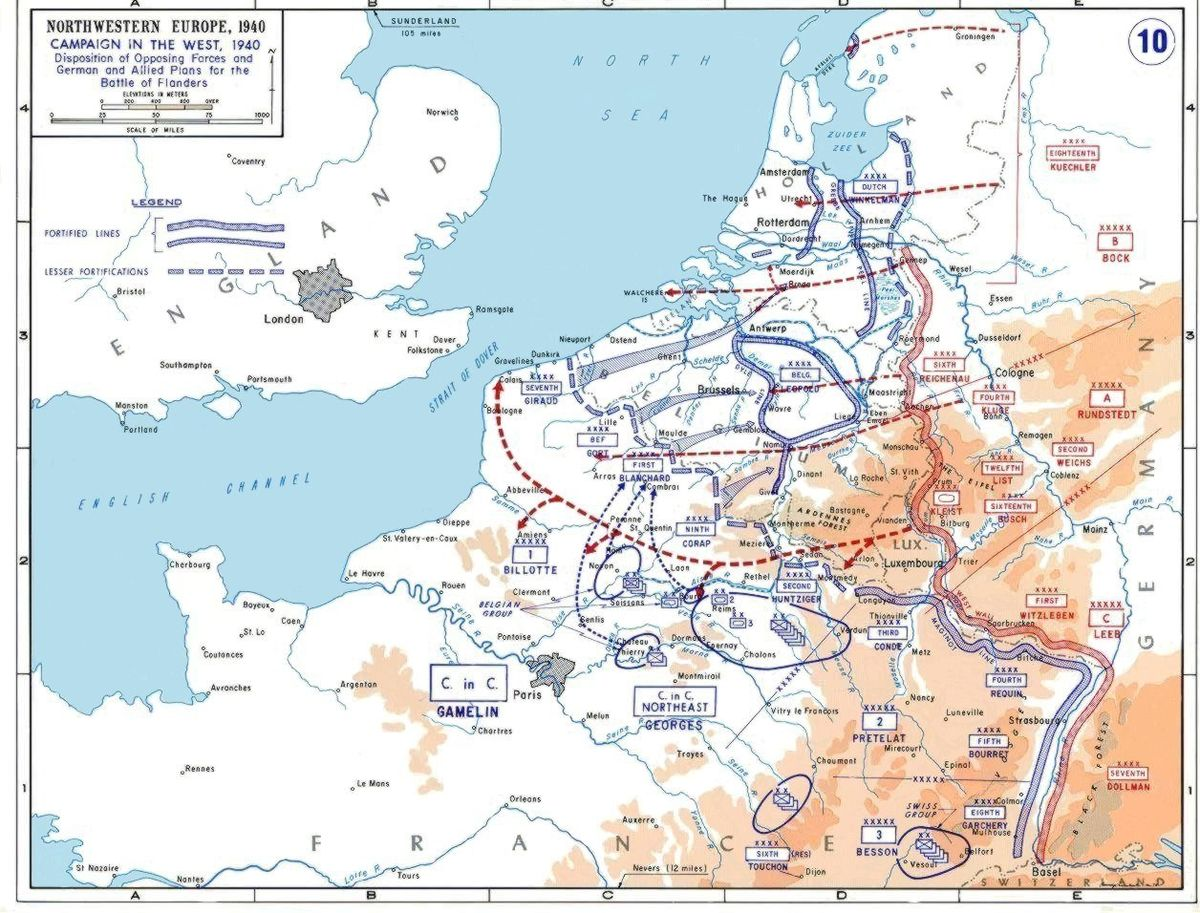 Map Of Northwest France.French War Planning 1920 1940 Wikipedia