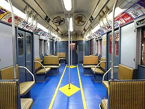 R10 (New York City Subway car) - Image: 1947 R10 prototype interior