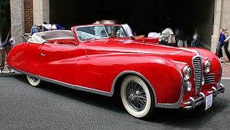 Delahaye 175 - Delahaye 178 Drophead Coupé (1949), once owned by Elton John.