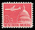 1962 -Red -Jetliner Over Capitol Building -C64.jpg
