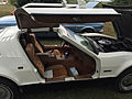 1974 Bricklin 4 speed white at Potomac Ramblers meeting 07.jpg