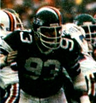 Marty Lyons - Lyons playing for the Jets in 1981