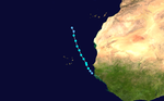 1988 Atlantic tropical storm 6 track.png