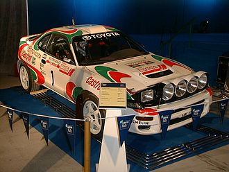 1993 World Rally Championship - The 1993 World Rally Champions; Juha Kankkunen's Toyota Celica GT-Four ST185.