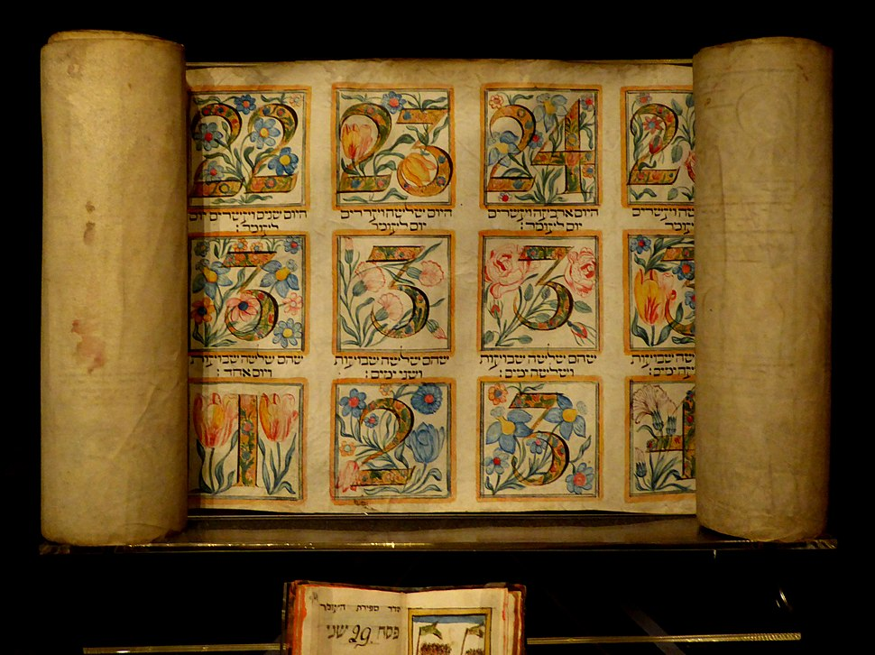 19th Century Italian Omer Calendar at the Jewish Museum London