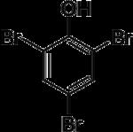 Strukturformel von 2,4,6-Tribromphenol