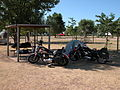 2003-08-16 Motorcyclists from Maryland camping in Spearfish, South Dakota.jpg